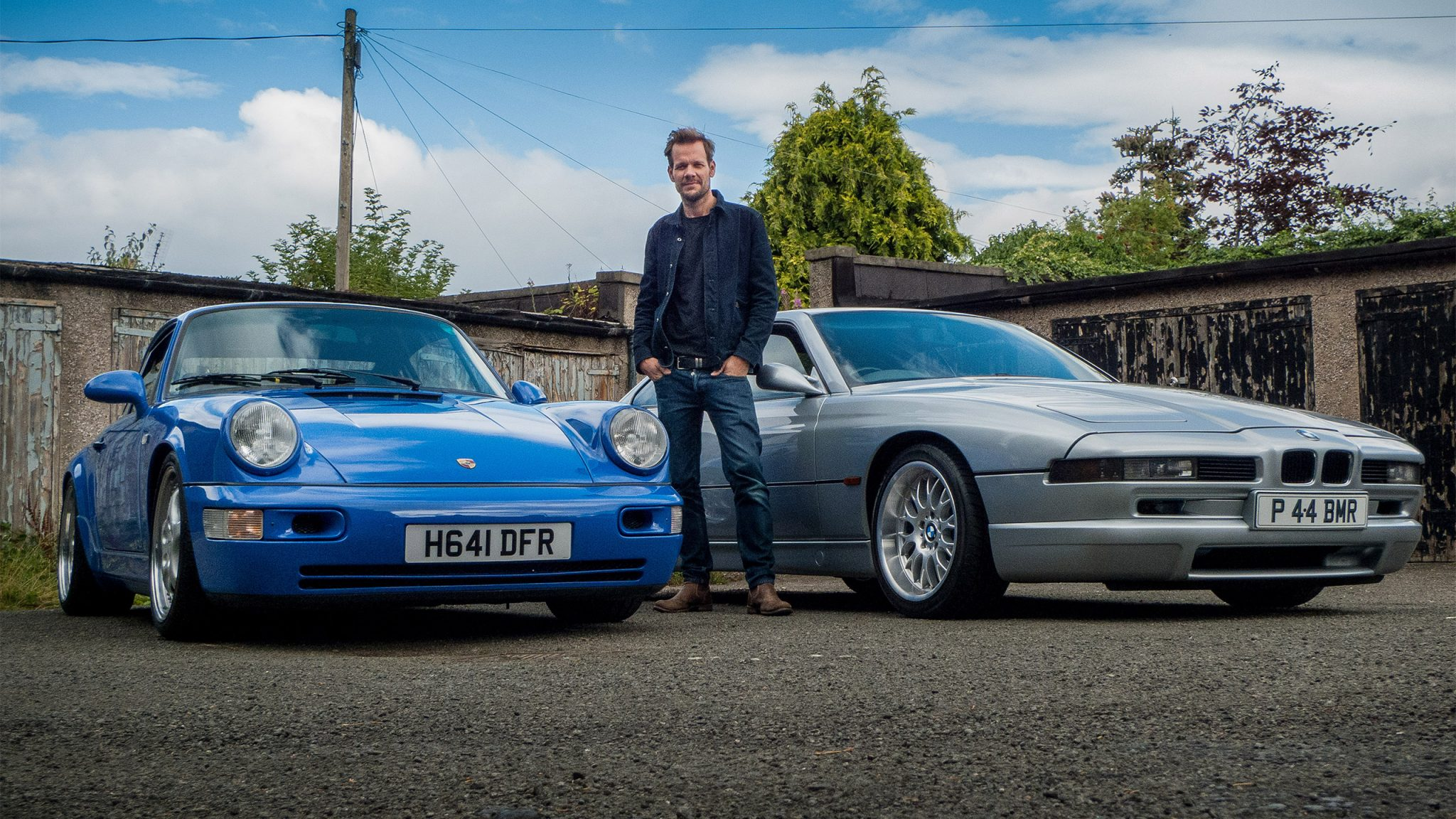 Renowned Movie Stills Photographer Jaap Buitendijk with two of his cars from his collection.