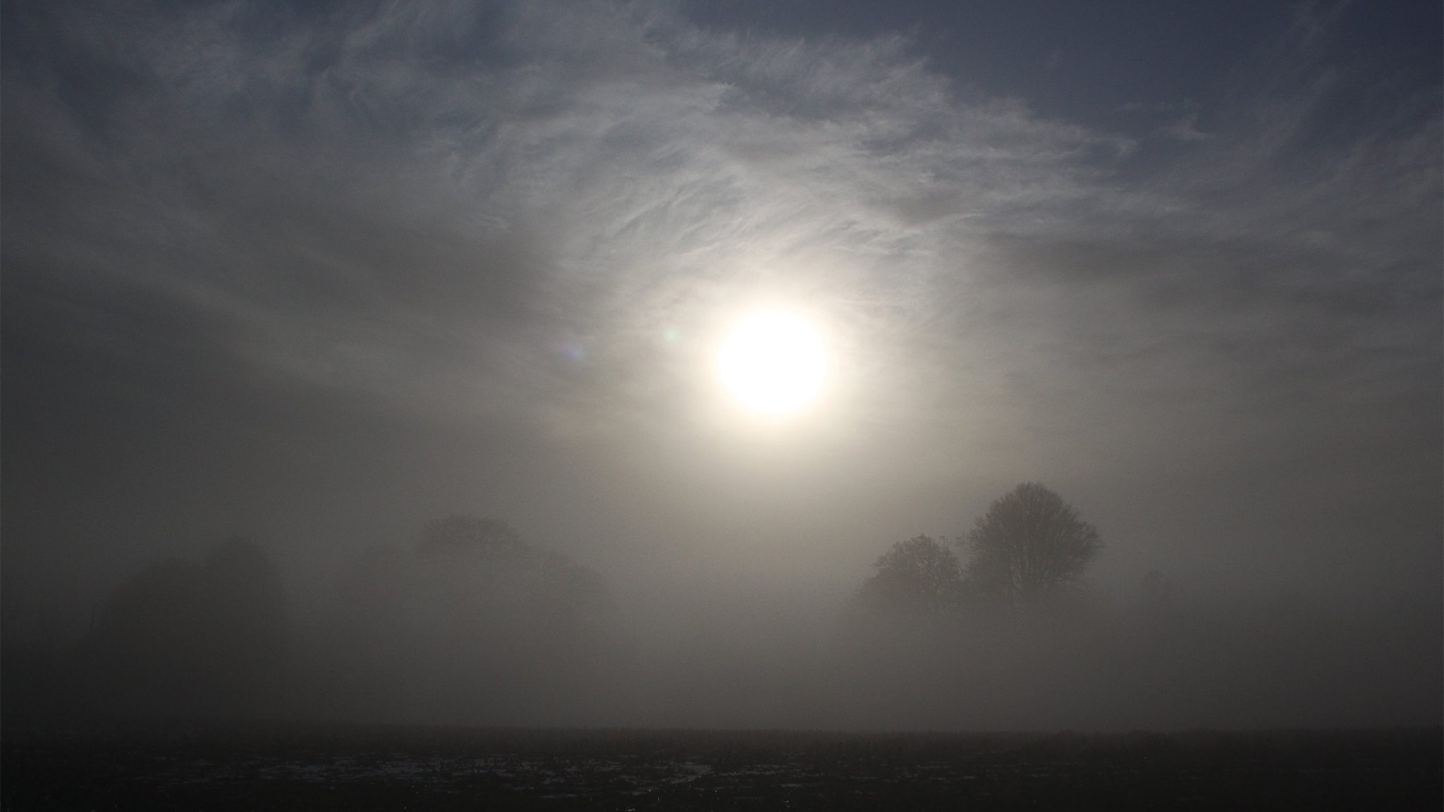 Misty Day above the River Dart, Tuckenhay, Devon, England.