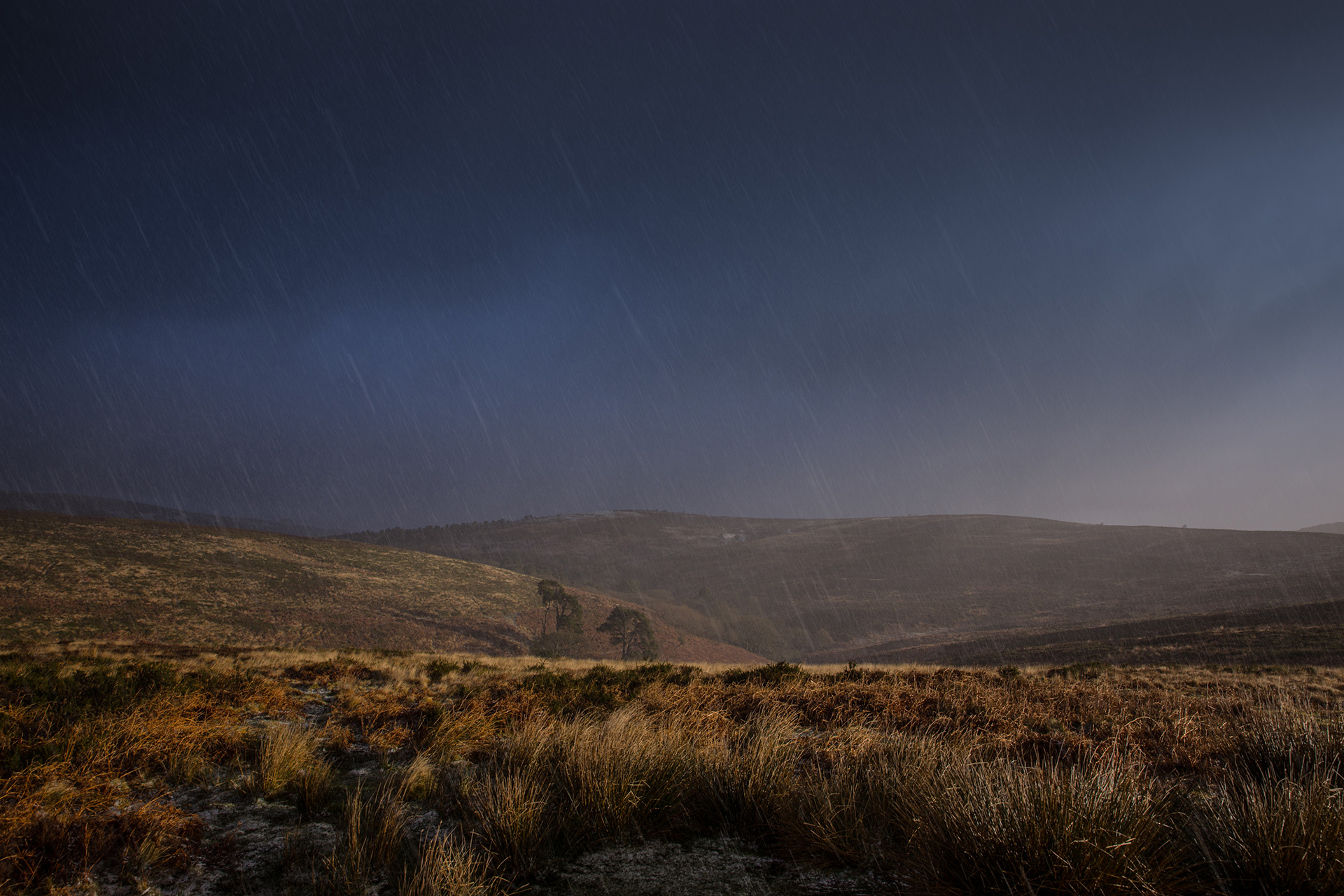 Quantock Hills in my native Somerset Early Sunrise Breaking through a cold snowstorm in early January.