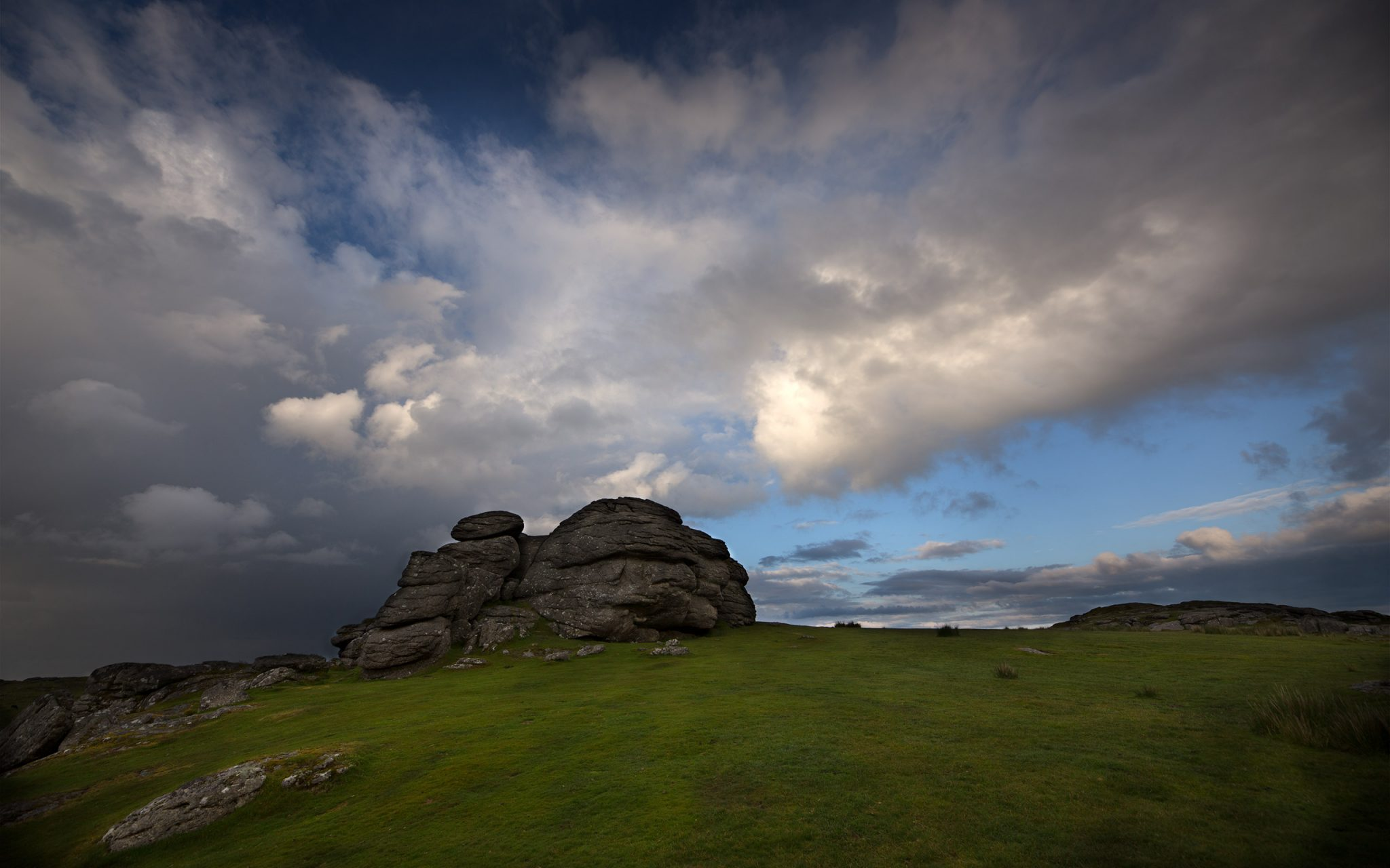 HDR photo on Dartmoor, Devon. Between Saddle Tor and Bone Hill rocks, looking west. Carey Marks photography
