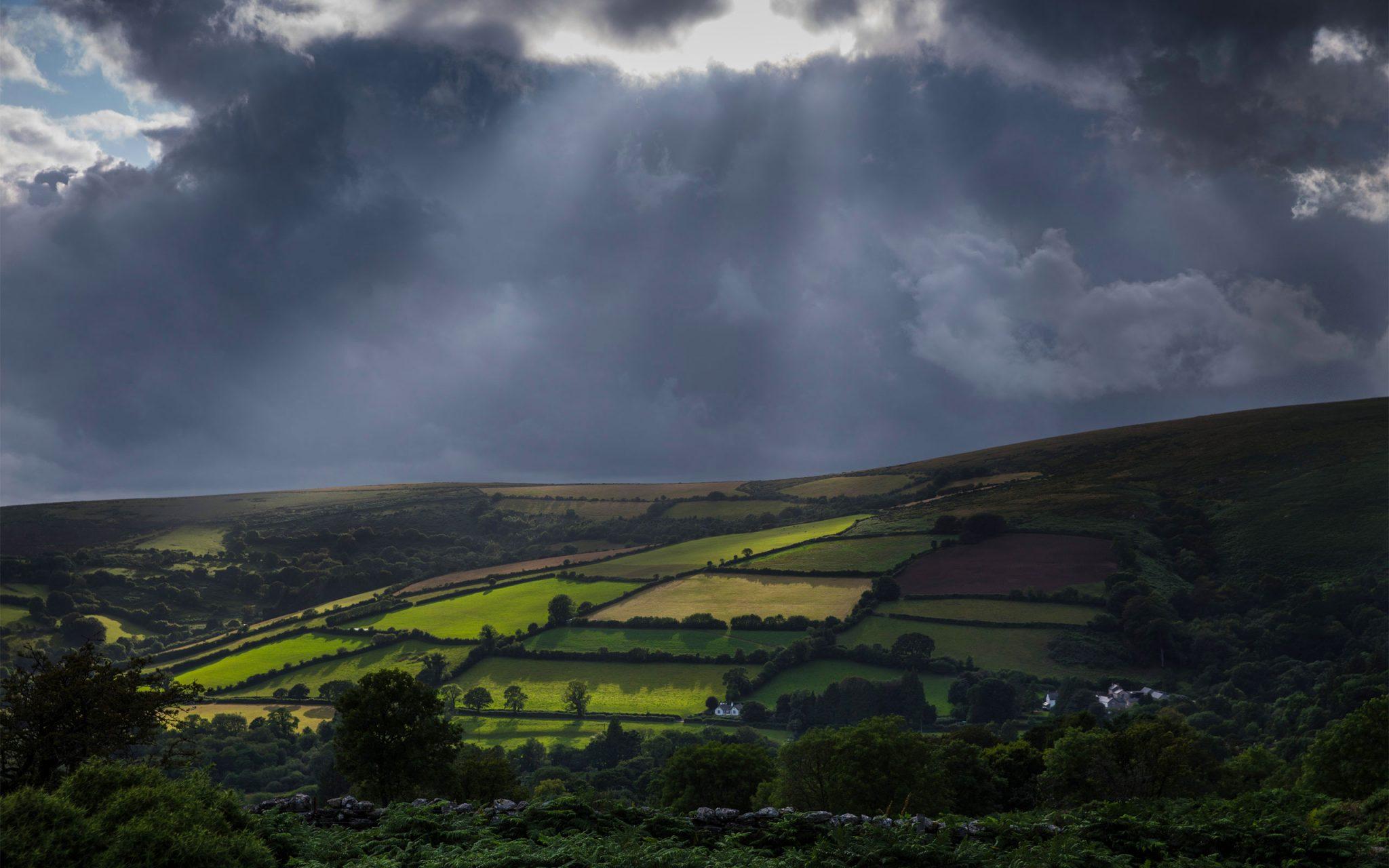 Carey Marks Photography, Documentary Photography, nature, Papillon Gin, environmental science, Landscape, Dartmoor, Rainstorm, Vista, Panorama, Landscape photography,