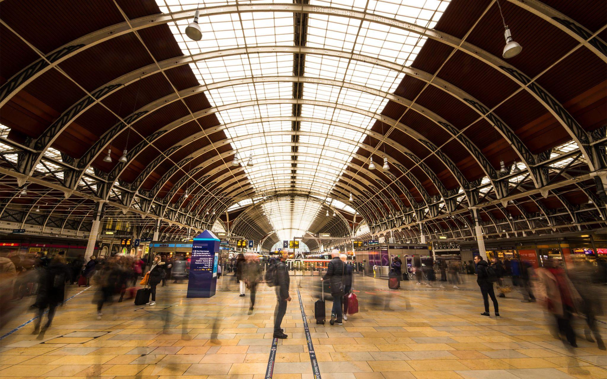 Paddington Railway Station, Long-exposure, Railways, Transport, London, commuters, transportation, World Cities,